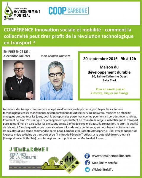 conference innovation sociale, mobilité, technologie